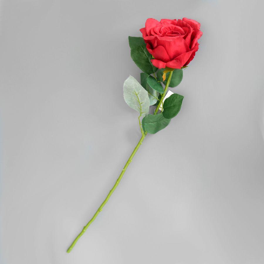 Роза, 64см, головка 10см, красная: цена 92 руб., купить оптом | Интернет-магазин «Микрос»