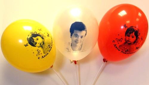 Печать фото на воздушных шарах